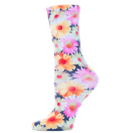 Womens Diabetic Crew Socks-One Size-Womens-Daisies