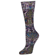 Womens Diabetic Crew Socks-One Size-Purple Versache