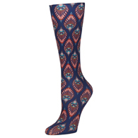 Womens Diabetic Crew Socks-One Size-Fall Peacock