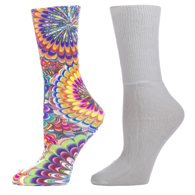 Diabetic Crew Sock Set-One Size-Austin Powers & White