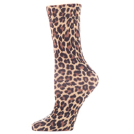 Womens Diabetic Crew Socks-One Size-Hairy Leopard