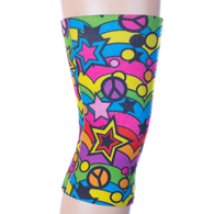Womens Light/Moderate Knee Support-Rainbow 60's