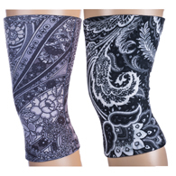 Light/Moderate Knee Support Set-Black Paisley Fountain & Black Calypso