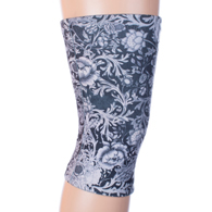 Light/Moderate Knee Support-Black White Vines & Roses