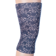 Womens Light/Moderate Knee Support-Navy Lace