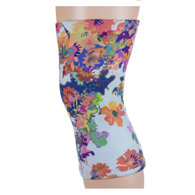 Womens Light/Moderate Knee Support-Fancy Watercolors