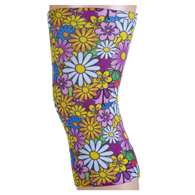 Womens Light/Moderate Knee Support-Colorful Daisies