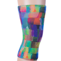 Womens Light/Moderate Knee Support-Watercolor Tiles