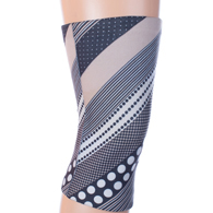 Womens Light/Moderate Knee Support-Diagonal Dots Blue