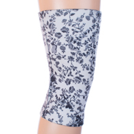 Womens Light/Moderate Knee Support-Climbing Roses White