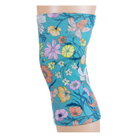 Womens Light/Moderate Knee Support-Turquoise Lillies