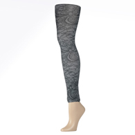 Womens Leggings-Midnight Lace