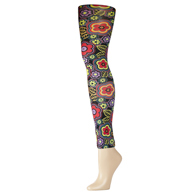 Womens Leggings-Black Vogue