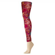 Womens Leggings-Bright Vintage Floral