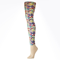 Womens Leggings-Abstract Colors