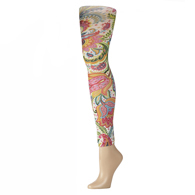 Womens Leggings-Tropical Calypso
