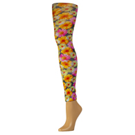 Womens Leggings-Daisies