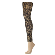Womens Leggings-Hairy Leopard