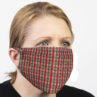 Ear Loop Mask Christmas Check
