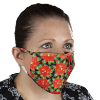 Ear Loop Mask Poinsettias