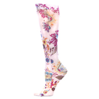 Womens Compression Sock-Tropical Paisley