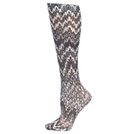 Trouser Sock-Black White Fleur Missoni