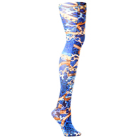 Womens Tights-Blue Wild Link