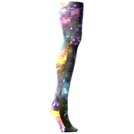 Womens Tights-Multi Planets