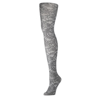Womens Tights-Grey Morning Lace