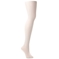 Womens Tights-White Solid